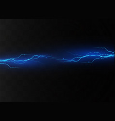 lightning on a transparent vector image