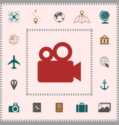 movie camera icon elements for your design vector image