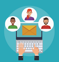 online customer service and support vector image