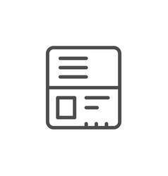 passport line icon vector image