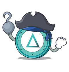 Pirate salt coin character cartoon vector