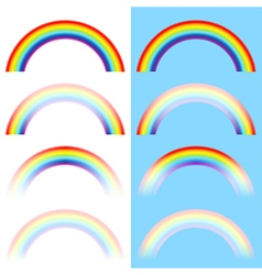 Rainbow arc set vector