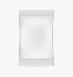 realistic packet mock up vector image