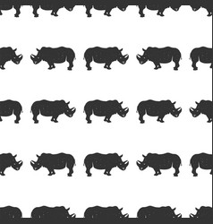 rhino seamless wild animal wallpaper stock vector image