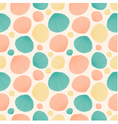 Seamless pattern with colorful seashells for vector