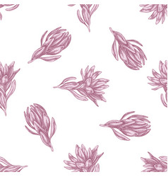 seamless pattern with hand drawn pastel vector image