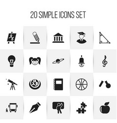 Set of 20 editable science icons includes symbols vector