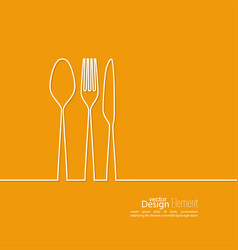 Set of cutlery vector