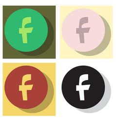 Set of facebook logotype social network icon vector