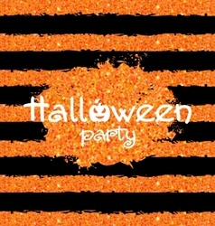 Shine Orange Wallpaper for Happy Halloween Party vector