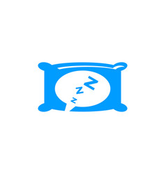 sleep icon logo design element vector image