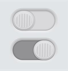 Slider gray 3d push buttons vector
