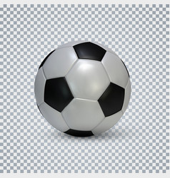 soccer ball realistic football ball with shadow vector image