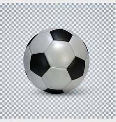 soccer ball realistic football ball with shadow vector image