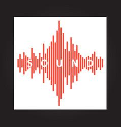 sound wave beats flat vector image