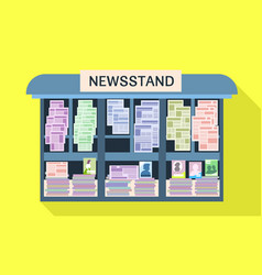 Street newsstand icon flat style vector