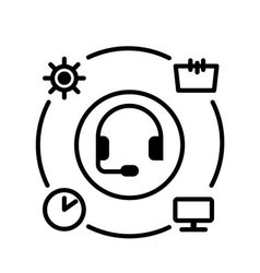 Symbol of Ambient User Experience Thin line Icon vector image