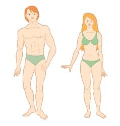 Templates of human s figure vector