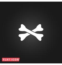 Two bone icon vector