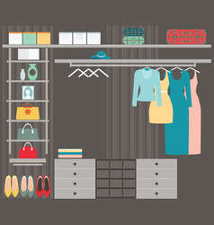 Walk in closet vector
