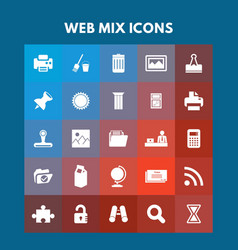 web mix icons vector image