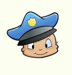 Baby Cop vector image vector image