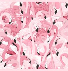 pink flamingo birds flamboyance seamless pattern vector image vector image