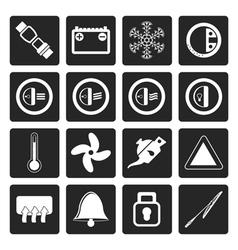 Black Car Dashboard icons vector image vector image