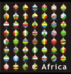 Christmas bulbs Africa flags vector image vector image