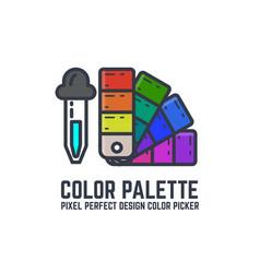 color swatch palette vector image