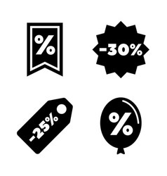 discount tags simple related icons vector image vector image