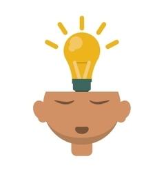 head thinking bulb idea innovation design vector image