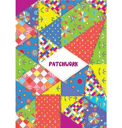 Patchwork cover or placard - funny design vector