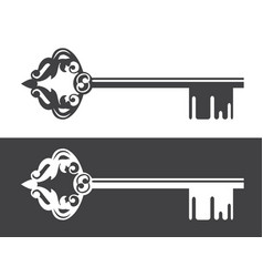 realty logo decorated key vector image