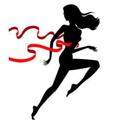 runner winner female vector image