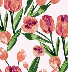 Seamless pattern with floral background vector image