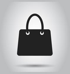 shopping bag icon shop sale bag flat gift vector image