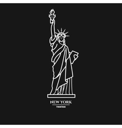 Statue of liberty Icon 1 vector image vector image