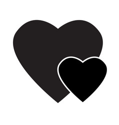 black heart icon on white background black heart vector image vector image