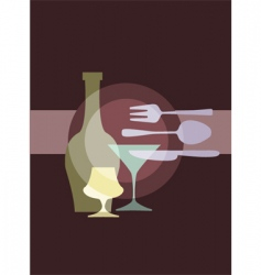 restaurant and dining vector image vector image