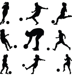 woman soccer player vector image vector image