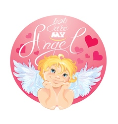 you are my angel 380 vector image
