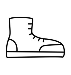 boot outlinel icon vector image