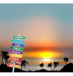Exotic trip Eps10 background vector image