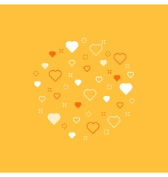 Love theme pattern with hearts vector image