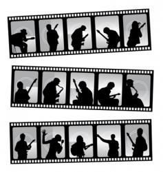 music filmstrip vector image vector image