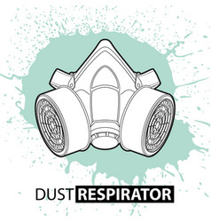 respirator against dust on a bright background vector image vector image