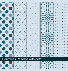 simple dotted patterns seamless collection vector image vector image
