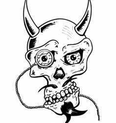 skull w- glass eye vector image vector image
