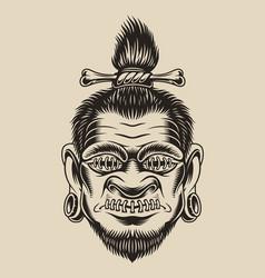 A voodoo head vector